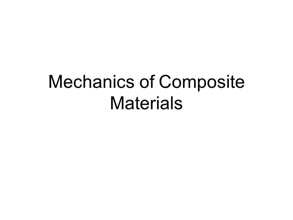 Constitutive Relationships for Composite Materials.