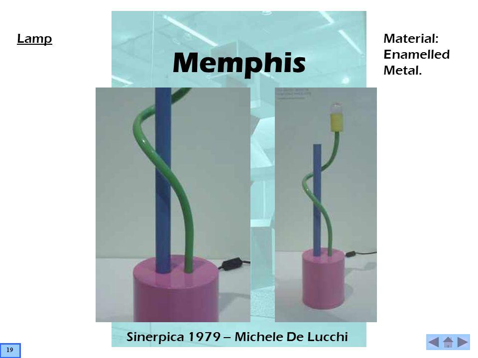 Memphis Sinerpica 1979 – Michele De Lucchi LampMaterial: Enamelled Metal. 19