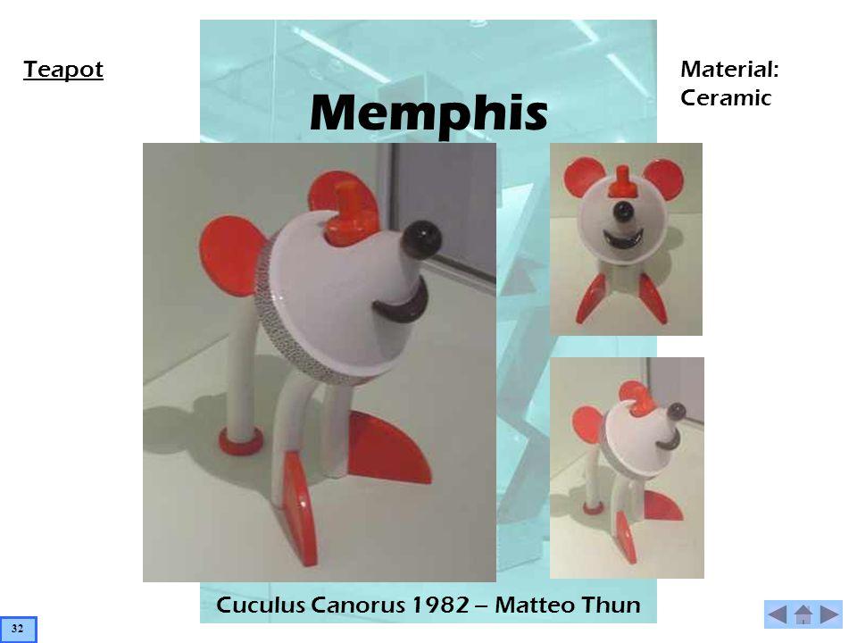 Memphis Cuculus Canorus 1982 – Matteo Thun TeapotMaterial: Ceramic 32