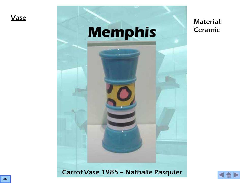Memphis Carrot Vase 1985 – Nathalie Pasquier Vase Material: Ceramic 38