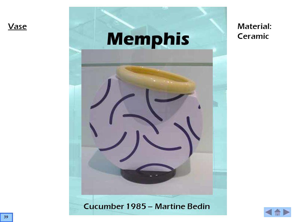 Memphis Cucumber 1985 – Martine Bedin VaseMaterial: Ceramic 39