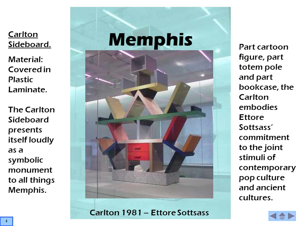 Memphis Sol – Ettore Sottsass Fruit Dish Working in glass and ceramics Ettore Sottsass enjoyed even greater freedom from the modernist principle of form following function.