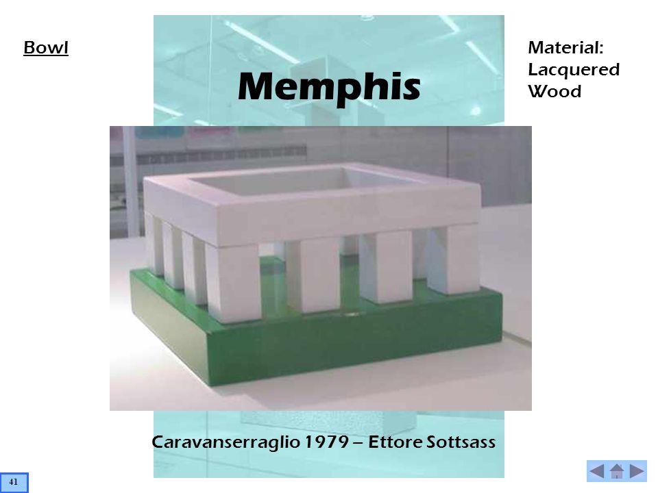 Memphis Caravanserraglio 1979 – Ettore Sottsass BowlMaterial: Lacquered Wood 41