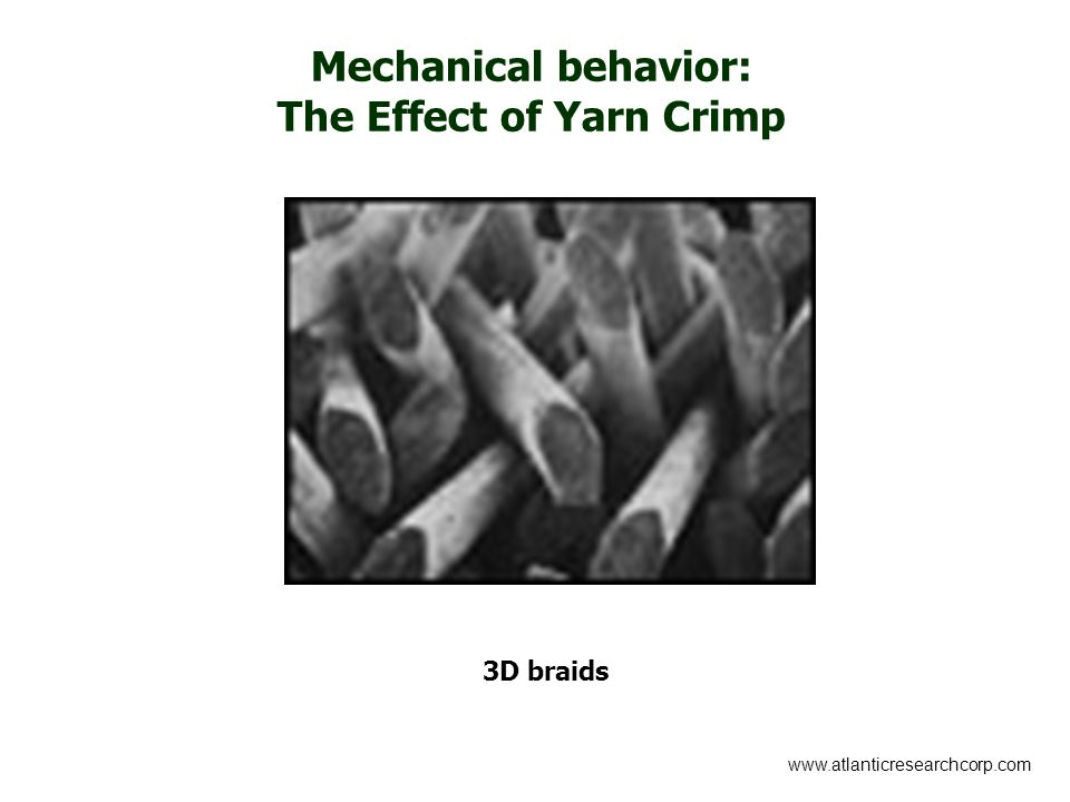Mechanical behavior: The Effect of Yarn Crimp 3D braids www.atlanticresearchcorp.com