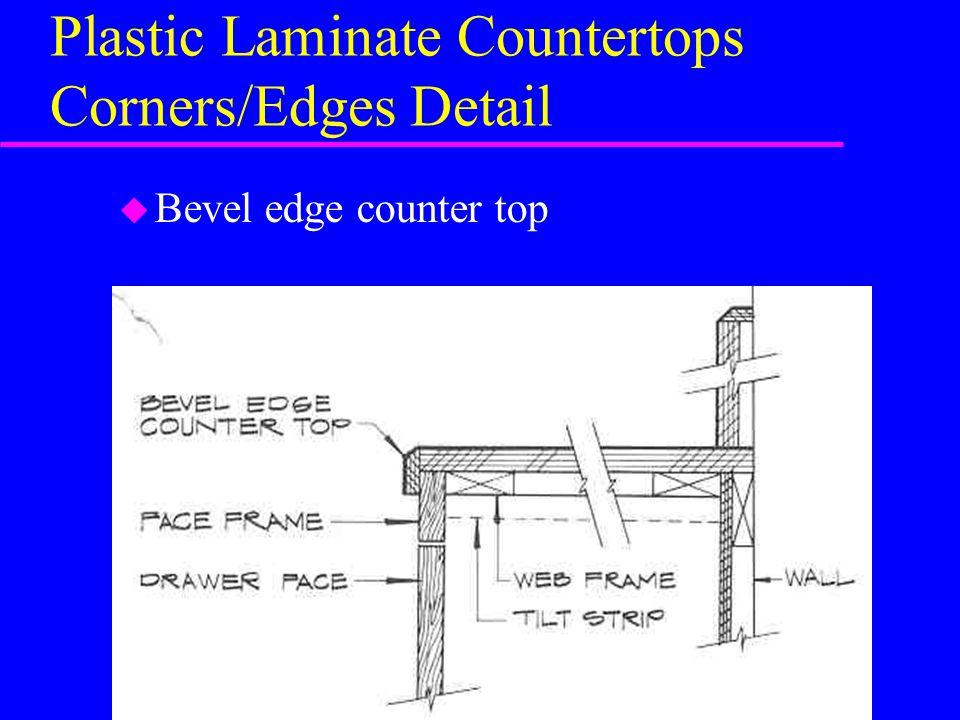 Plastic Laminate Countertops Corners/Edges Detail u Bevel edge counter top