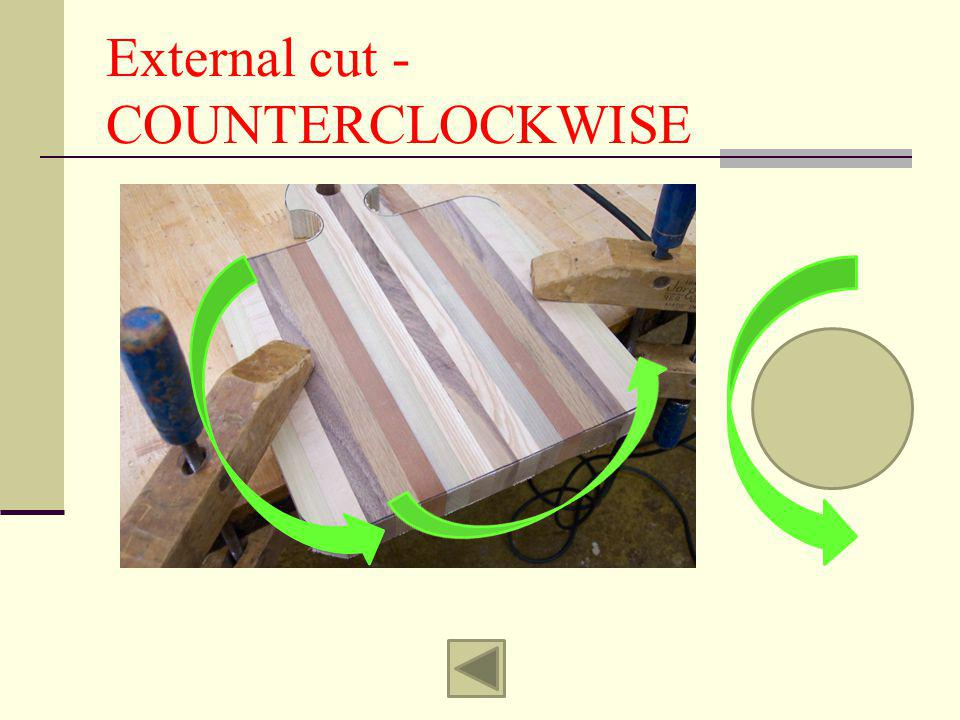 External cut - COUNTERCLOCKWISE