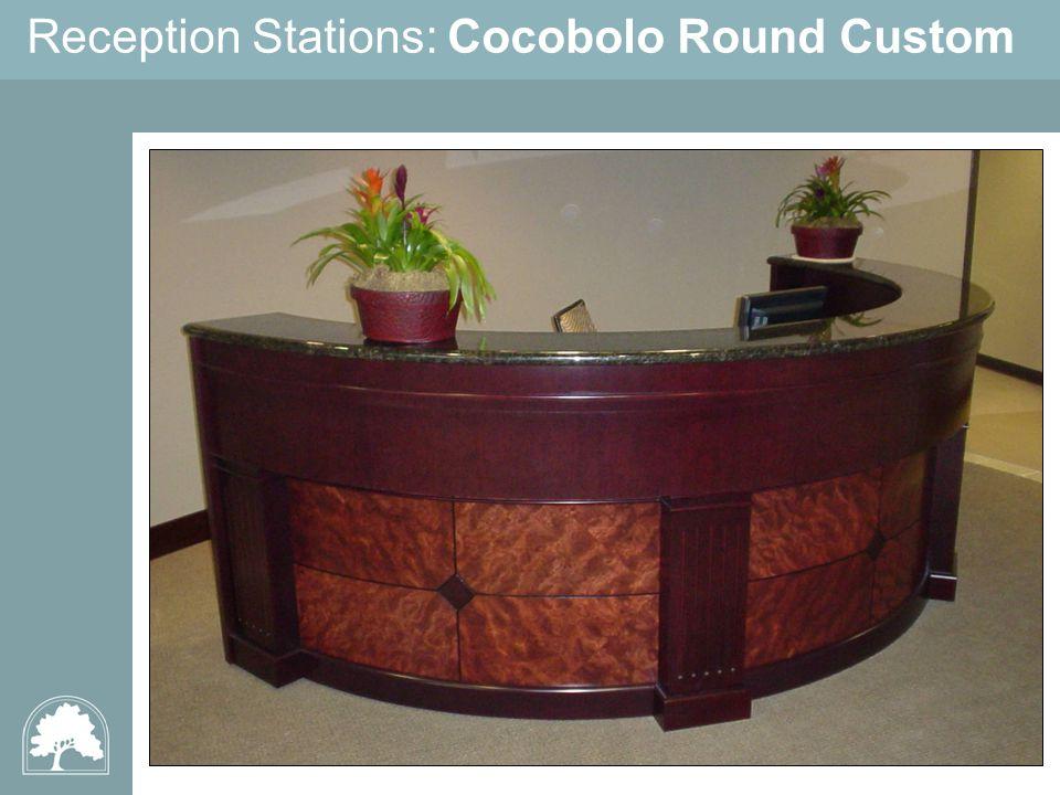 Reception Stations: Cocobolo Round Custom