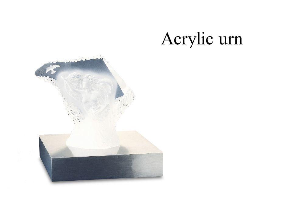 Acrylic urn