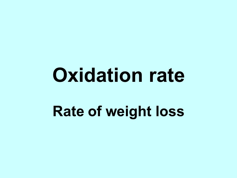 Oxidation rate Rate of weight loss