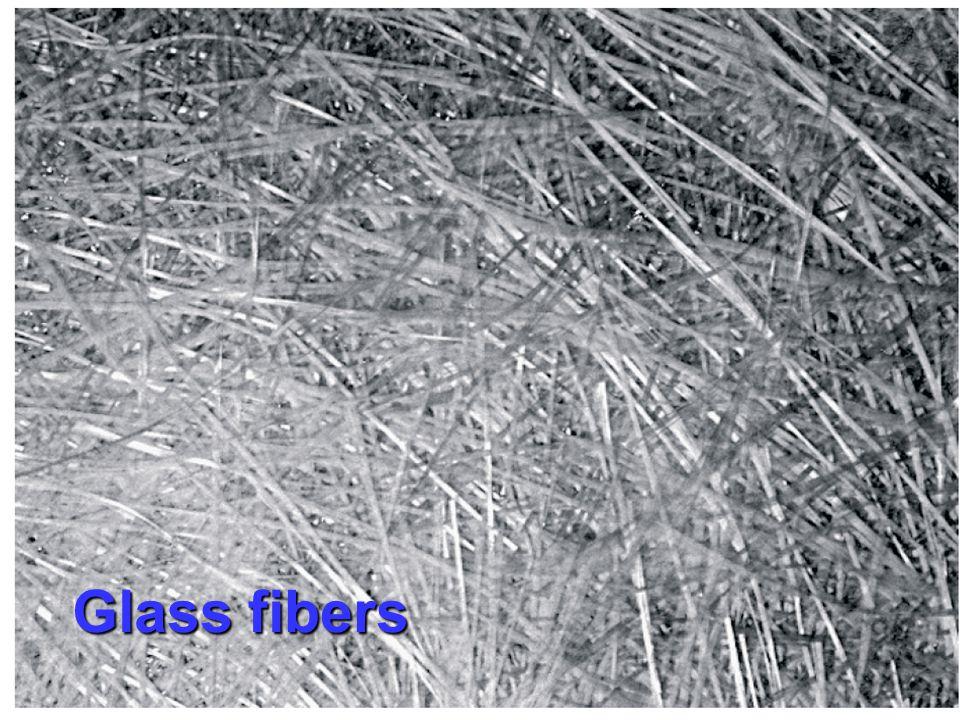 Single fiber tensile strength Carbon fiber 3.5 GPa Kevlar fiber 3.6 GPa E-glass fiber 3.4 GPa Steel 1.3 GPa