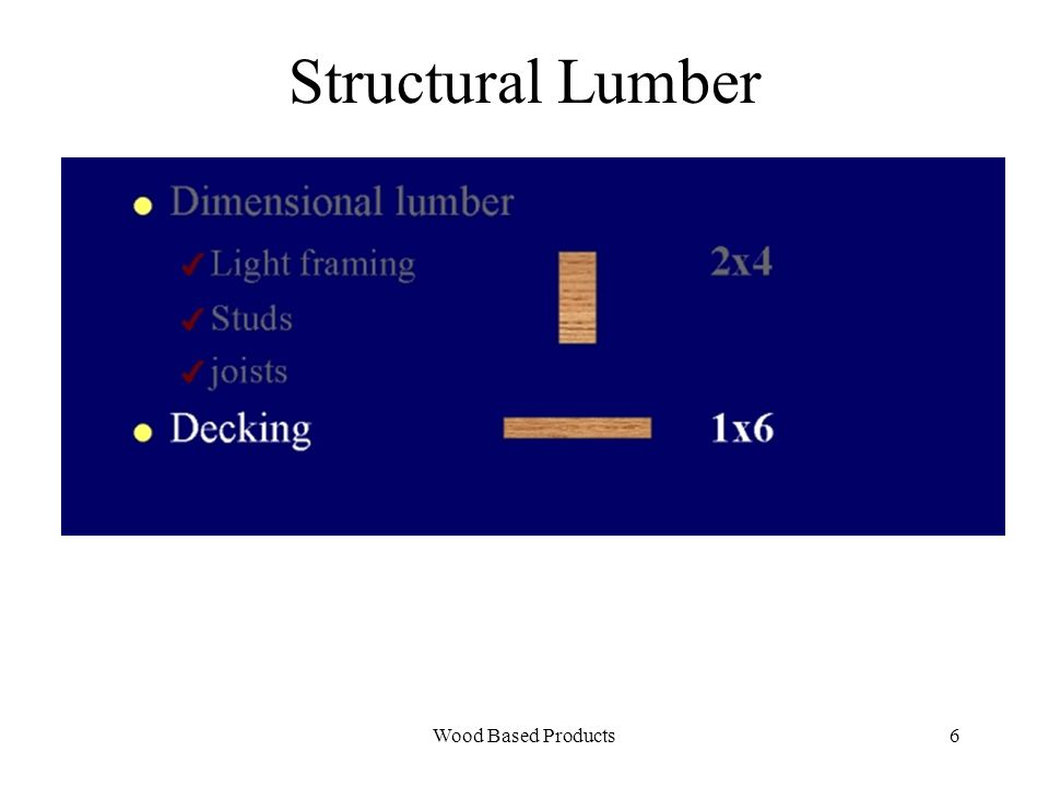 Wood Based Products7 Structural Lumber