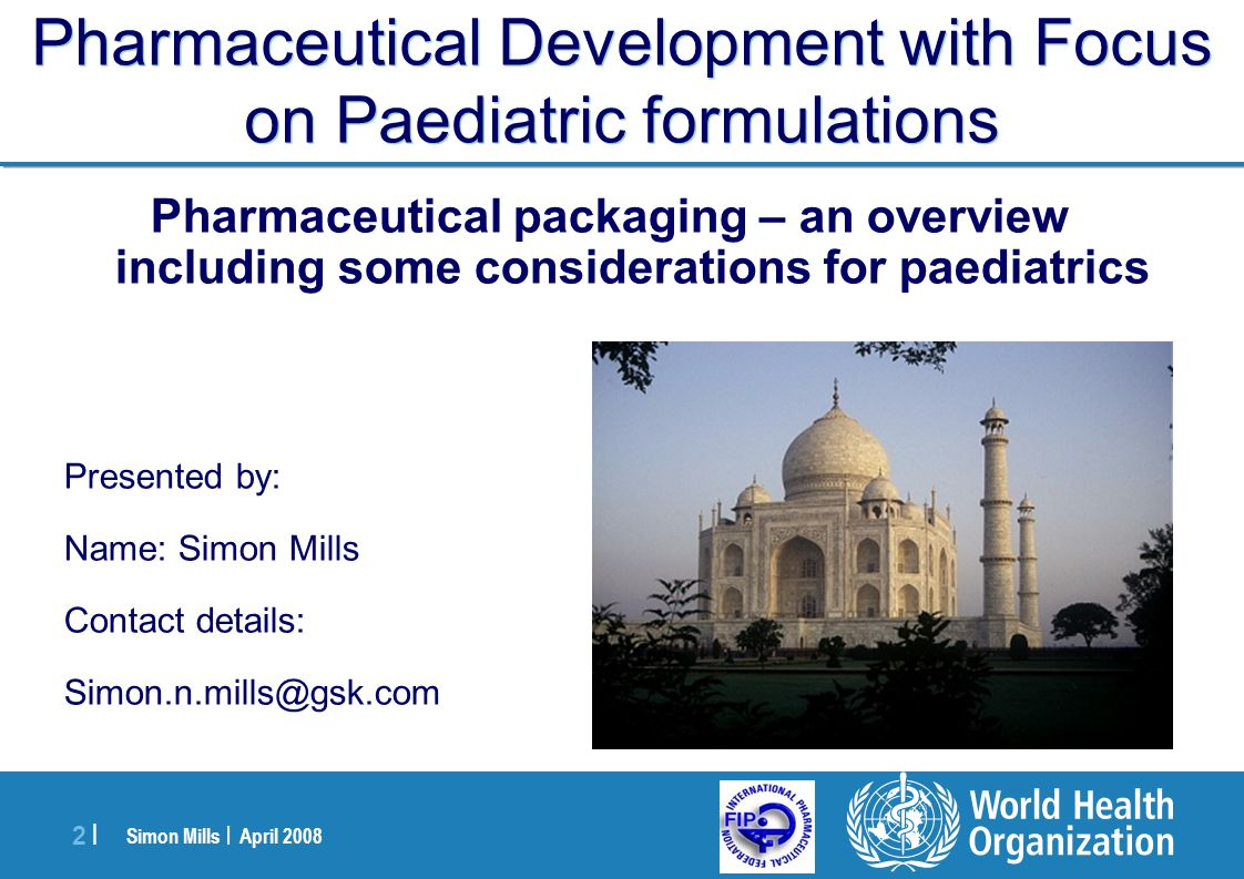 Simon Mills | April 2008 23 | Metered dose inhaler Nebules PACKAGING: IH and IN Products Dry Powder Inhalers Intranasal