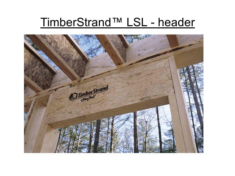 TimberStrand LSL – stair stringers