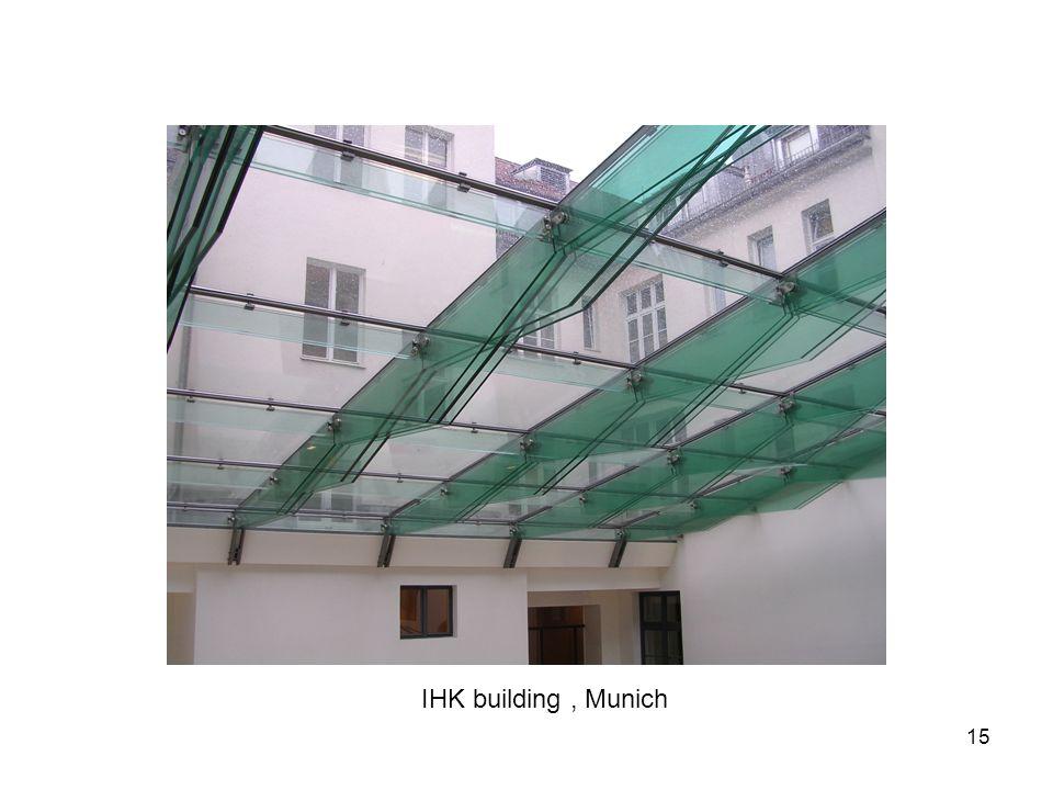 16 Carbon fibre reinforced glass roof beams for the loggia di vicari