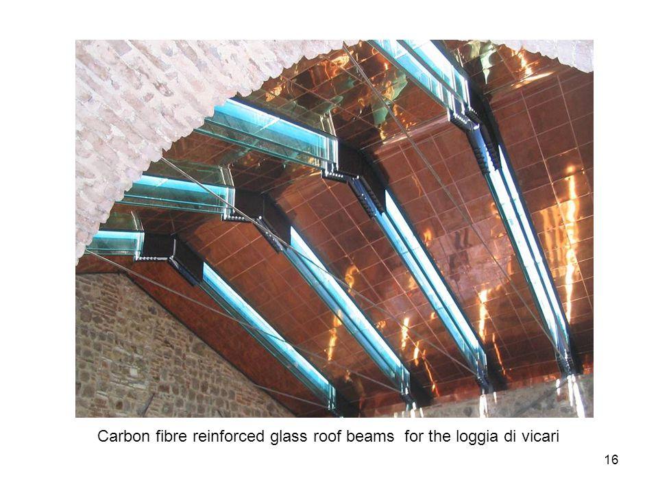 17 Stainless steel reinforced glass beam after testing TU Delft all glass paviljon 2004