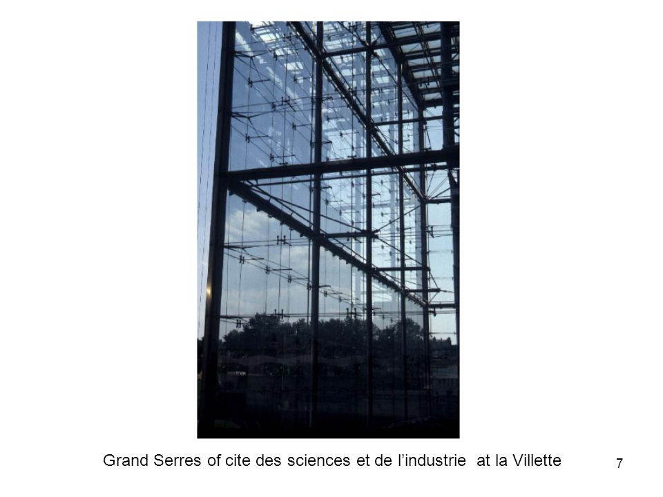 8 Glass in architecture This marks a transition from non-structural to limited structural use of glass.