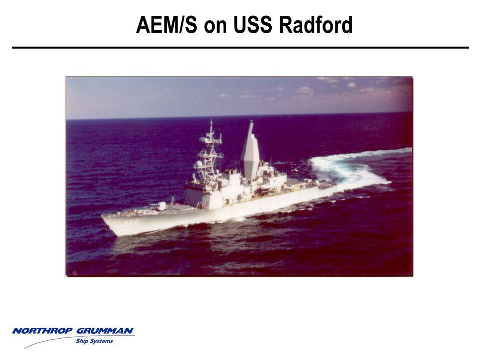 The USS Radford AEM/S Mast Stepping Ceremony