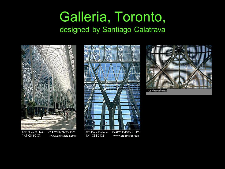 Galleria, Toronto, designed by Santiago Calatrava