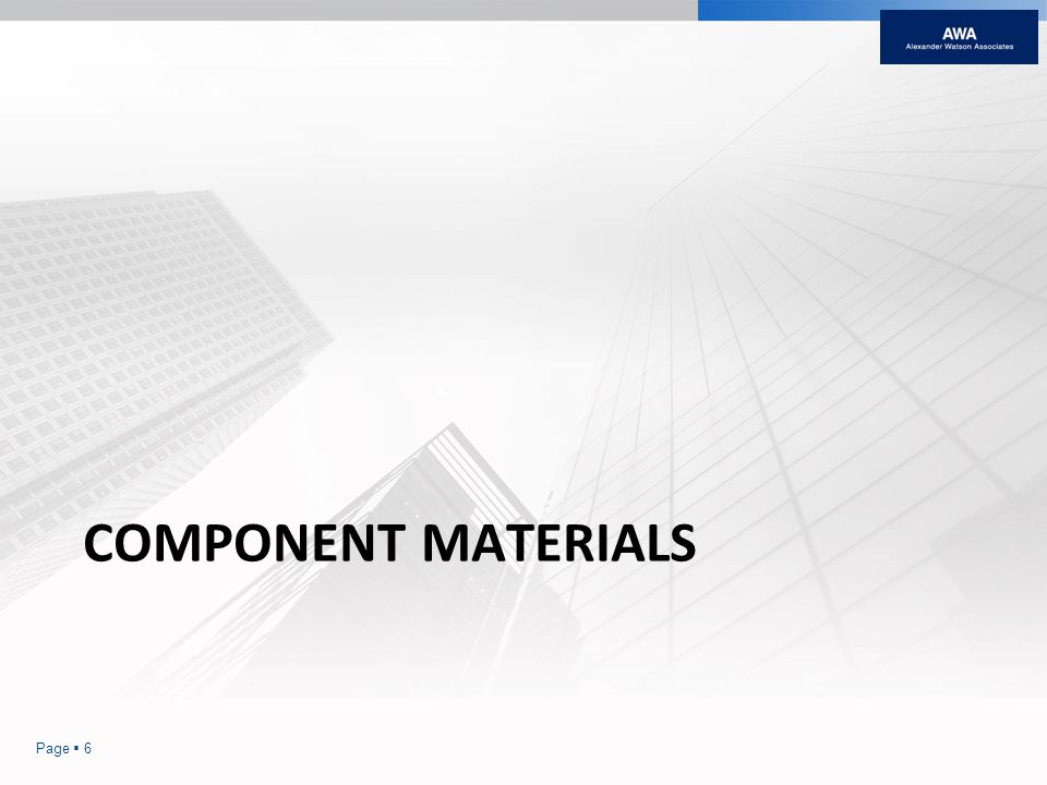 COMPONENT MATERIALS Page 6