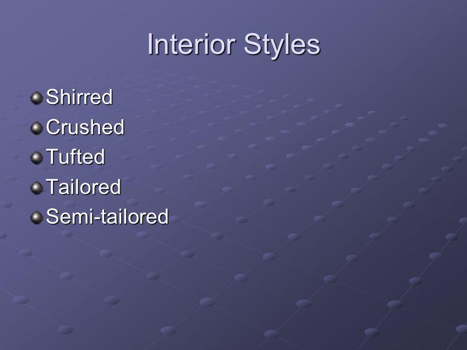Interior Styles ShirredCrushedTuftedTailoredSemi-tailored