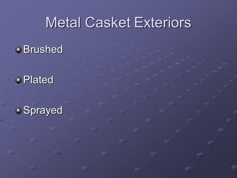 Metal Casket Exteriors BrushedPlatedSprayed