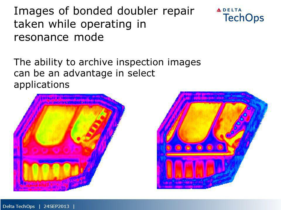 Delta TechOps | 24SEP2013 | Images of bonded doubler repair taken while operating in resonance mode The ability to archive inspection images can be an