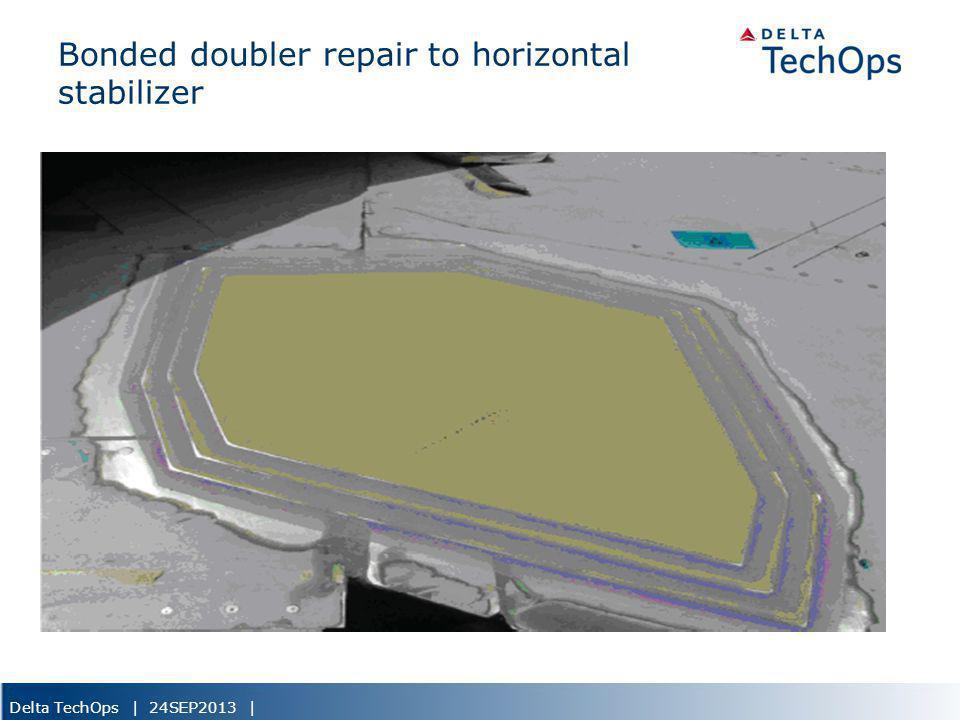 Delta TechOps | 24SEP2013 | Bonded doubler repair to horizontal stabilizer