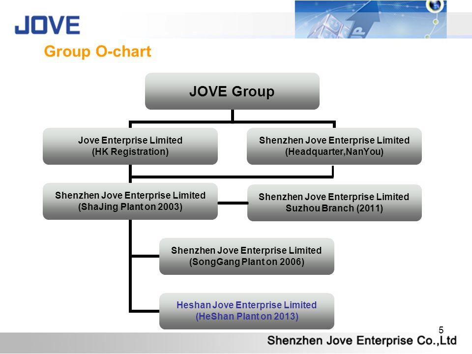 5 Shenzhen Jove Enterprise Limited Suzhou Branch (2011) Group O-chart