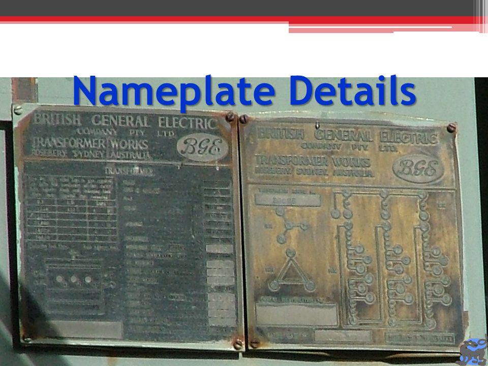 Nameplate Details