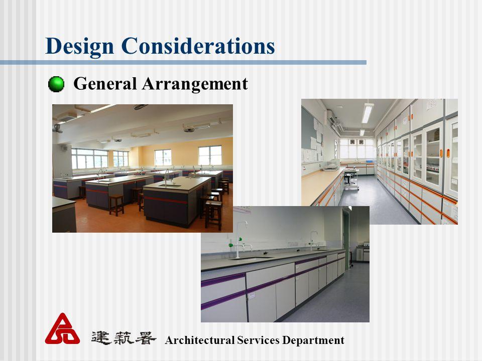 Architectural Services Department Design Considerations General Arrangement