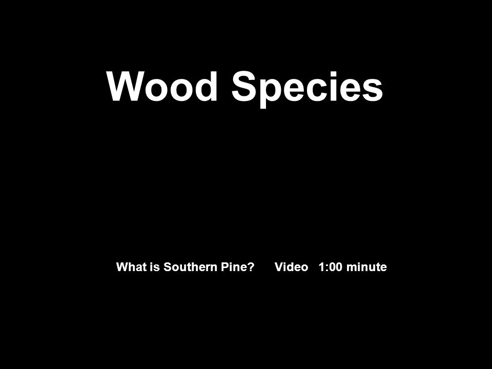 What is Southern Pine? Video 1:00 minute Wood Species