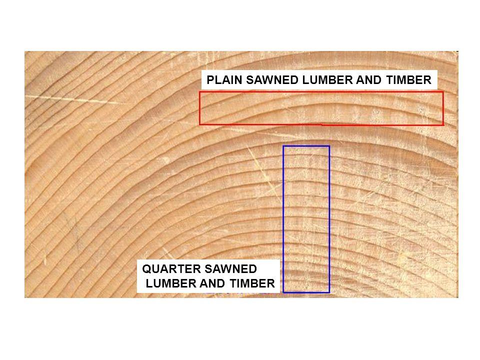 PLAIN SAWNED LUMBER AND TIMBER QUARTER SAWNED LUMBER AND TIMBER