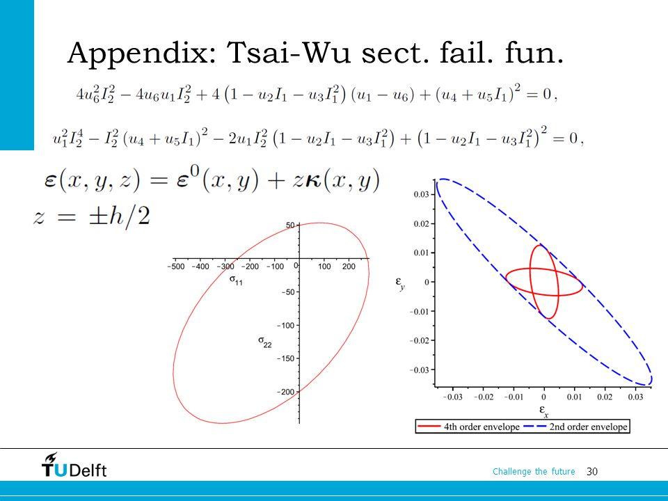 30 Challenge the future Appendix: Tsai-Wu sect. fail. fun.