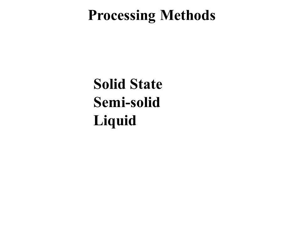 Processing Methods Solid State Semi-solid Liquid