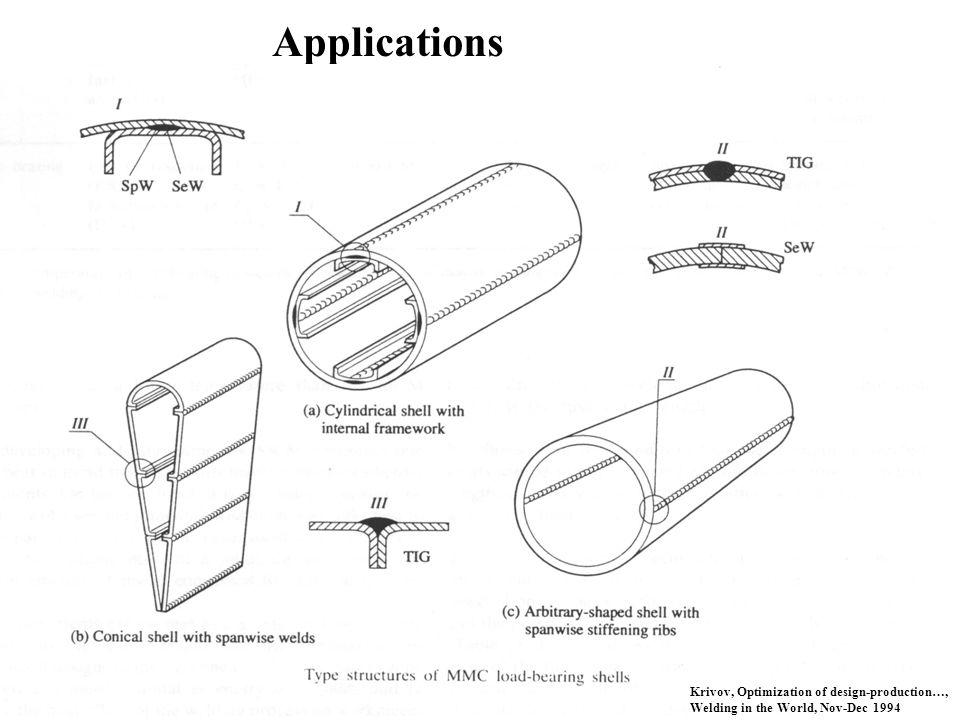 Applications Krivov, Optimization of design-production…, Welding in the World, Nov-Dec 1994