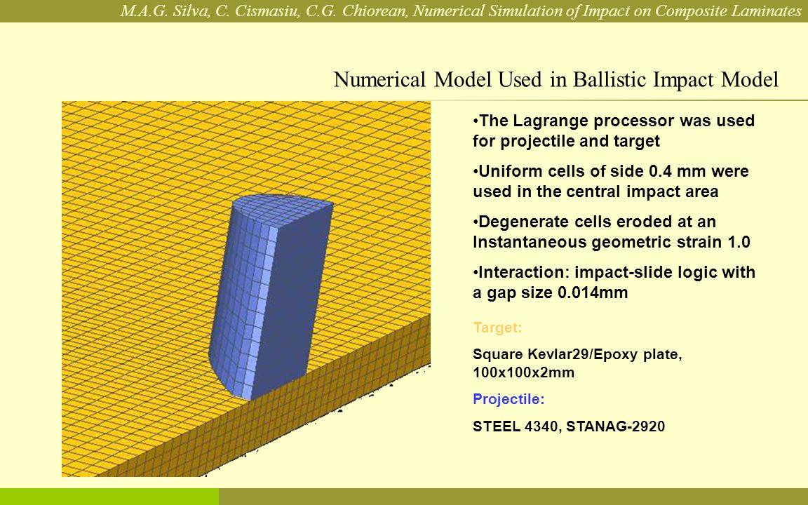 M.A.G. Silva, C. Cismasiu, C.G. Chiorean, Numerical Simulation of Impact on Composite Laminates