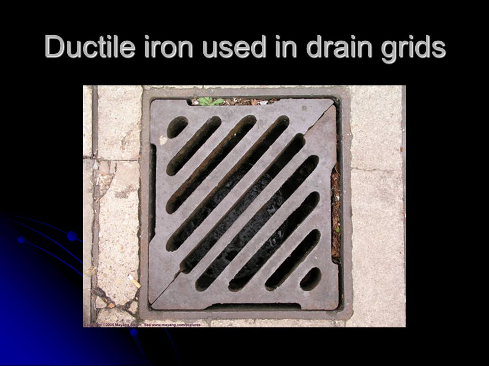 Ductile iron used in drain grids