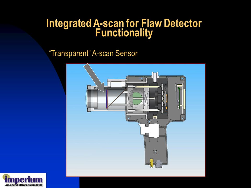 Transparent A-scan Sensor Integrated A-scan for Flaw Detector Functionality
