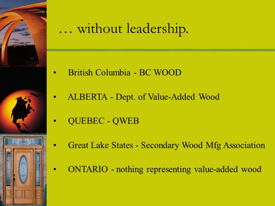 British Columbia - BC WOOD ALBERTA - Dept.