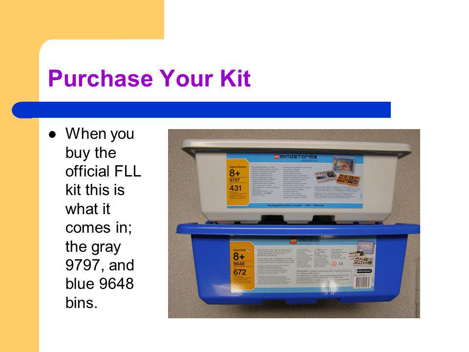 Start Using The FLL Kit(s) Once students start using the parts it wont be long before the bins and trays look like this.