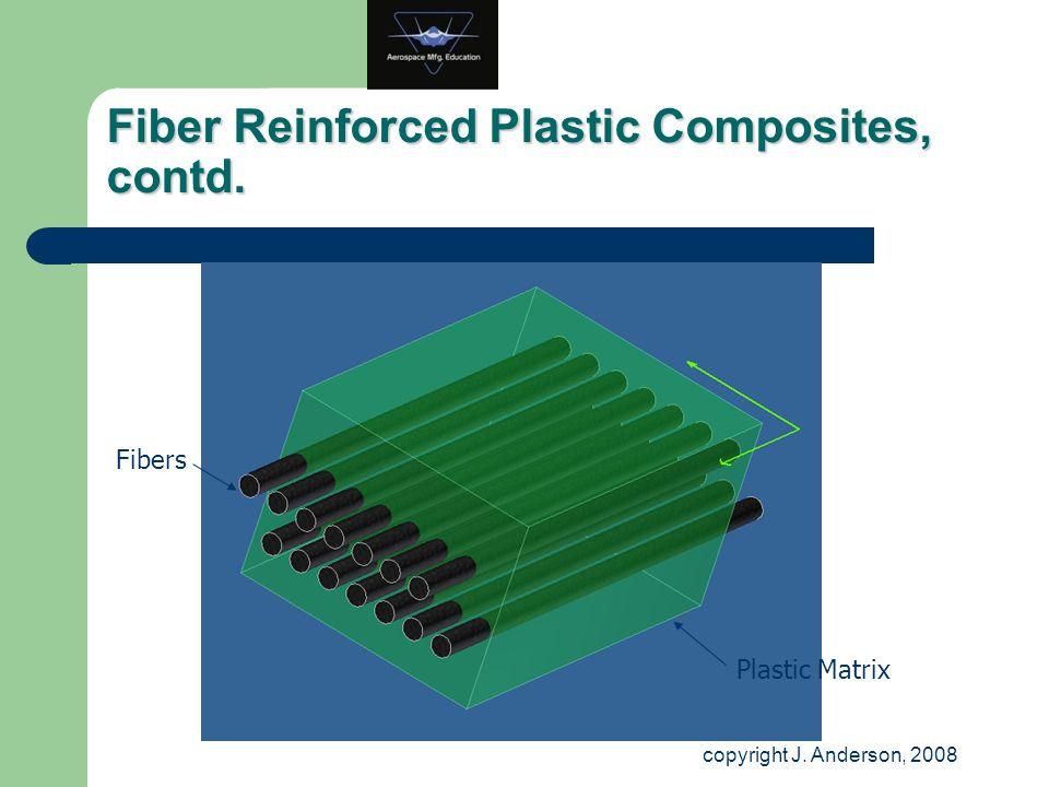 Fiber Reinforced Plastic Composites, contd. Fibers Plastic Matrix copyright J. Anderson, 2008