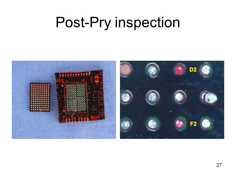 27 Post-Pry inspection