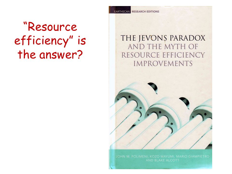 Resource efficiency is the answer?