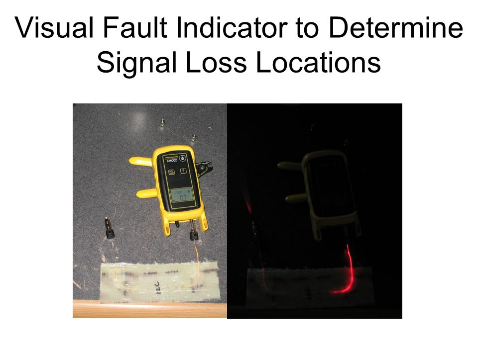 Visual Fault Indicator to Determine Signal Loss Locations