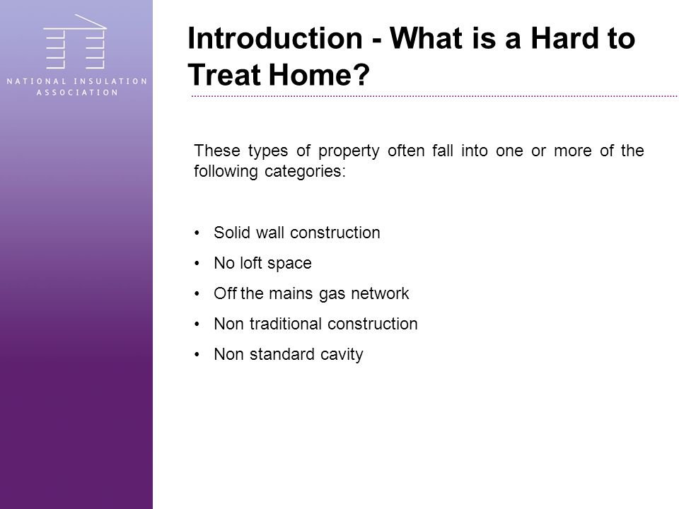 Introduction - What is a Hard to Treat Home.