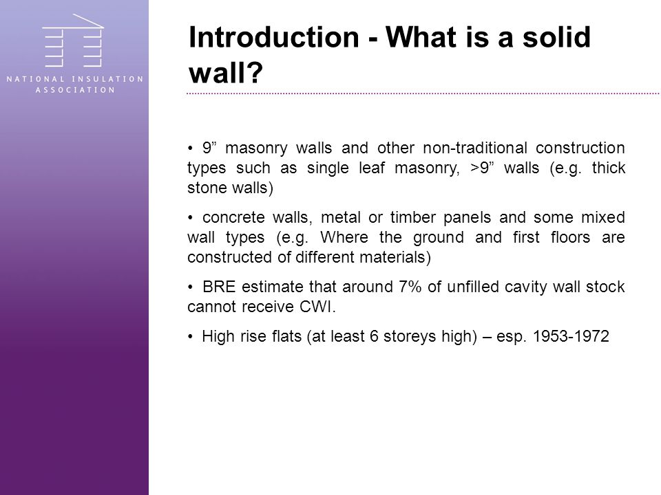 Introduction - What is a solid wall.