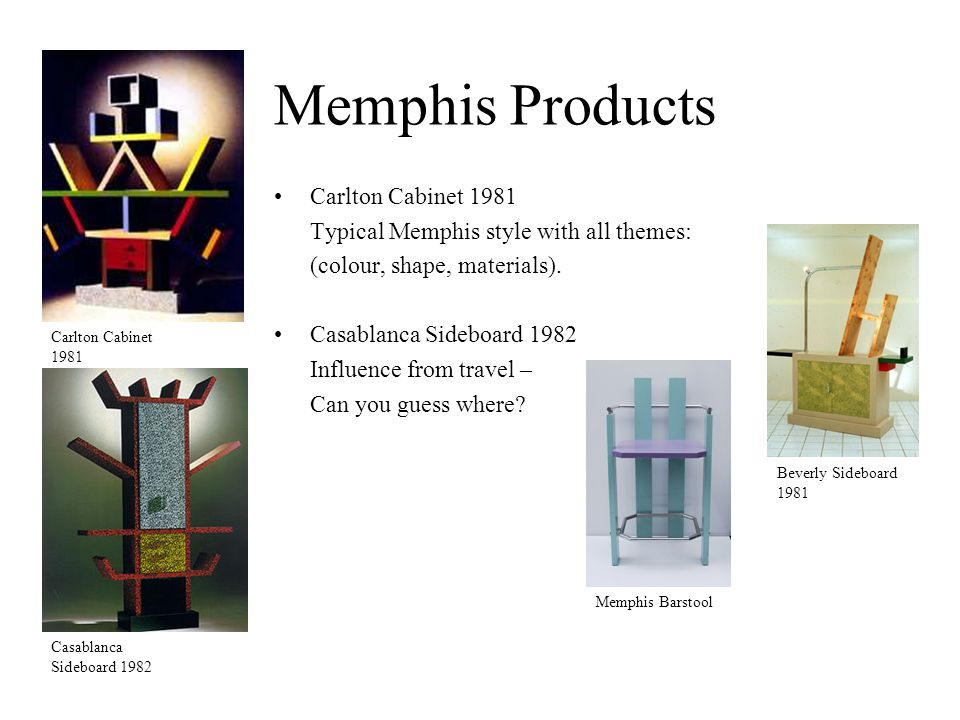 Memphis Products Carlton Cabinet 1981 Typical Memphis style with all themes: (colour, shape, materials).