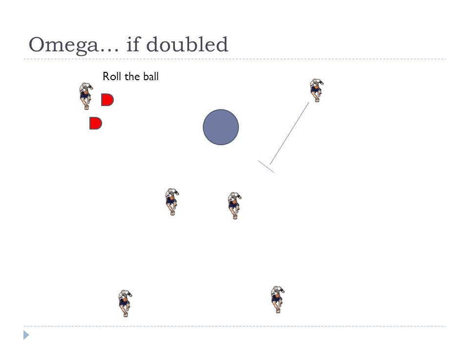 Omega… if doubled Roll the ball