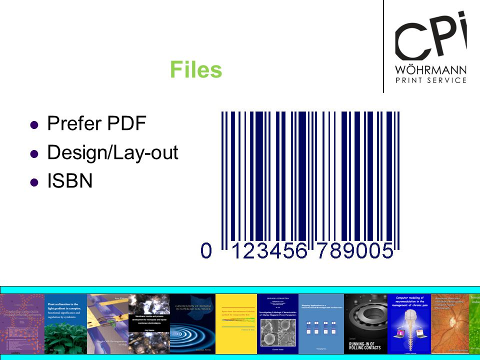 Files Prefer PDF Design/Lay-out ISBN