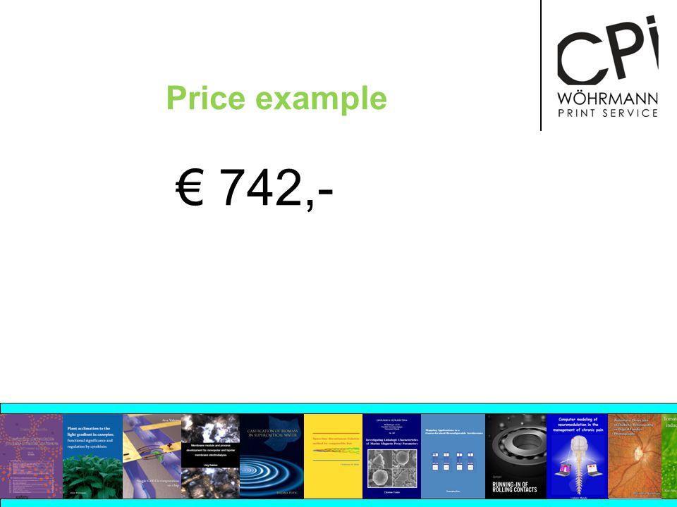 Price example 742,-